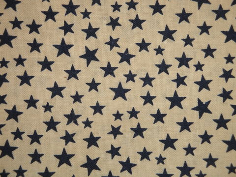 Scattered,Star,Fabric,Tan,With,Navy,Sold,By,The,Yard,Supplies,star_fabric,scattered_star,red_star_fabric,star_material,red_star_material,old_glory_fabric,red_fabric,cotton_fabric,sewing_fabric,craft_fabric,rag_quilt_fabric,fabric_by_the_yard,primitive_fabric