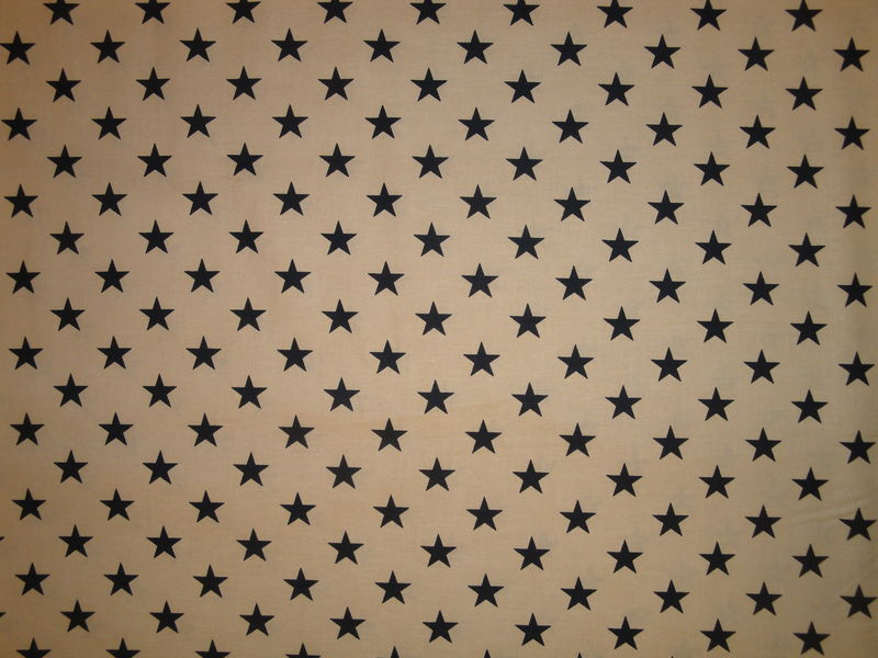 Star Fabric Tan With Navy Star Sold By The Yard - product image