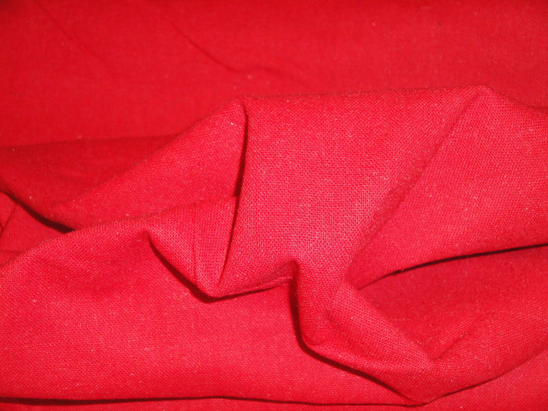 Red Osnaburg Cotton Fabric Sold By The Yard - product image