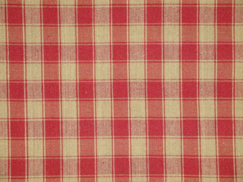 Red And Tea Dye House Check Cotton Homespun Fabric  - product image
