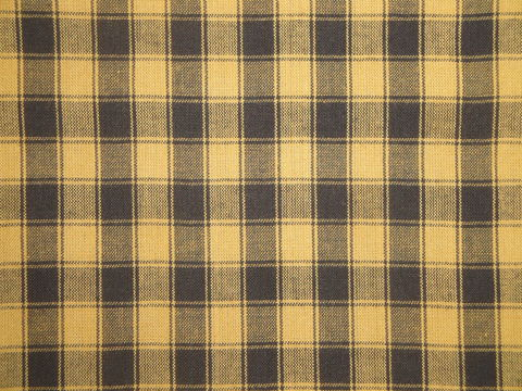 Mustard,And,Black,Woven,Cotton,Homespun,Large,House,Check,Fabric,1,Yard,mustard homespun fabric, large plaid fabric, Dunroven House Homespun Fabric, primitive plaid fabric