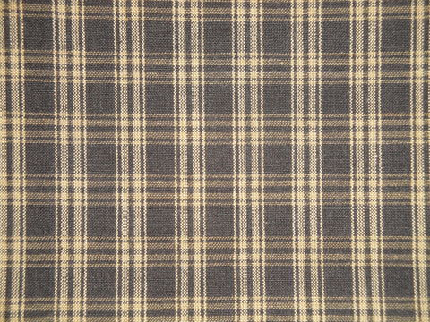 Black,And,Tea,Dye,Catawba,Plaid,Cotton,Homespun,Fabric,Dunroven House H51, plaid fabric, cotton plaid fabric, catawba_ black tan plaid fabric, home decor plaid fabric. primitive plaid fabric, curtain plaid fabric. bedding plaid fabric.