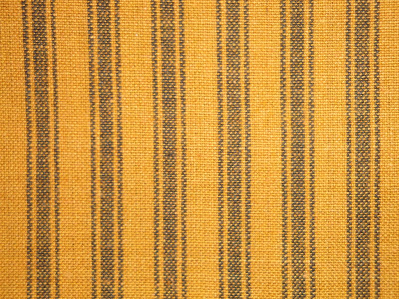 Pumpkin Spice Woven Cotton Homespun Ticking Stripe Fabric 1 Yard - product image