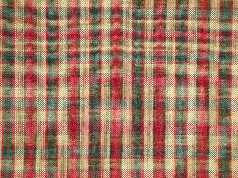 Green Red Tea Dye Woven Cotton Plaid Homespun Fabric - product image