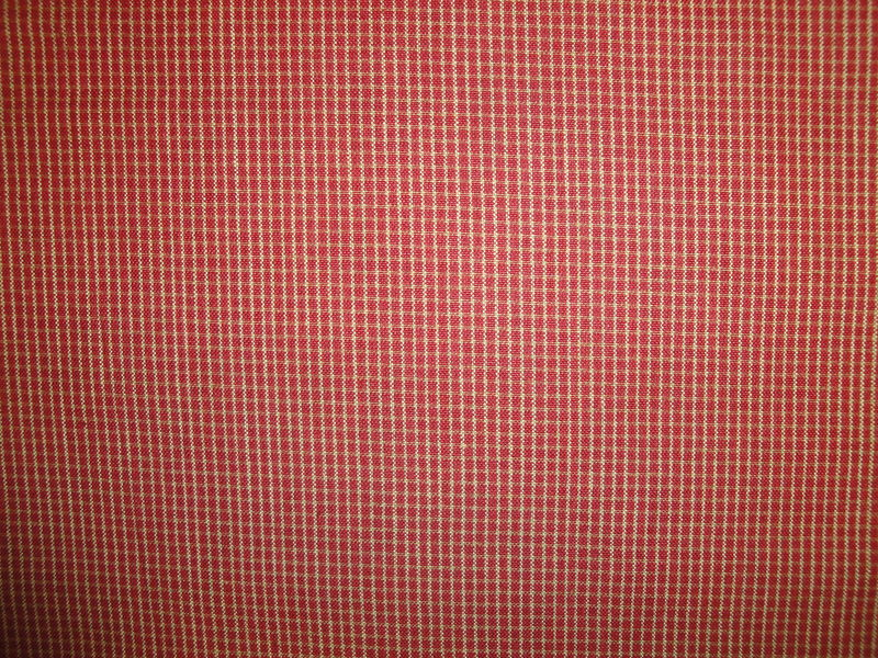 Red And Tea Dye Mini Window Pane Plaid Cotton Homespun Fabric  - product image