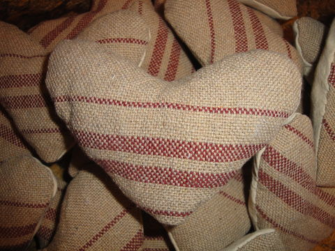Reproduction,Brick,Red,Woven,Coverlet,Heart,family heirloom weavers ,  fabric heart, coverlet heart, vintage quilt heart, primitive heart, handmade heart, rustic heart, antique quilt heart