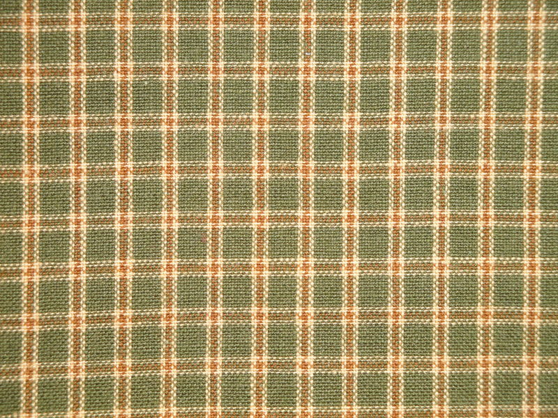 Sage Green Wheat White Plaid Cotton Homespun Fabric  - product image