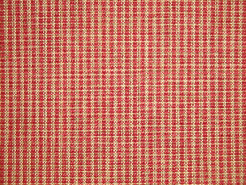 Red And Tea Dye Micro Check Cotton Homespun Fabric  - product image
