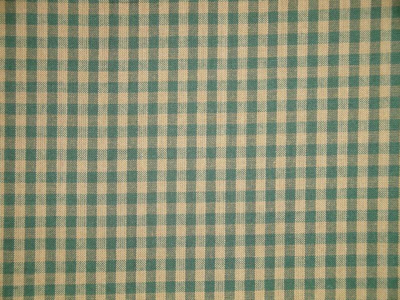 Green And Tea Dye Cotton Homespun Medium Check Fabric  - product image
