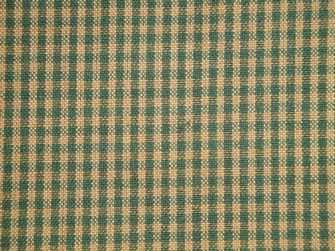 Small,Check,Green,And,Tea,Dye,Woven,Cotton,Homespun,Fabric,Dunroven_House_H43_ small check fabric, cotton small check fabric, small check fabric, green small check fabric, home decor check fabric. primitive check fabric, curtain check fabric. bedding check fabric, large check fabric