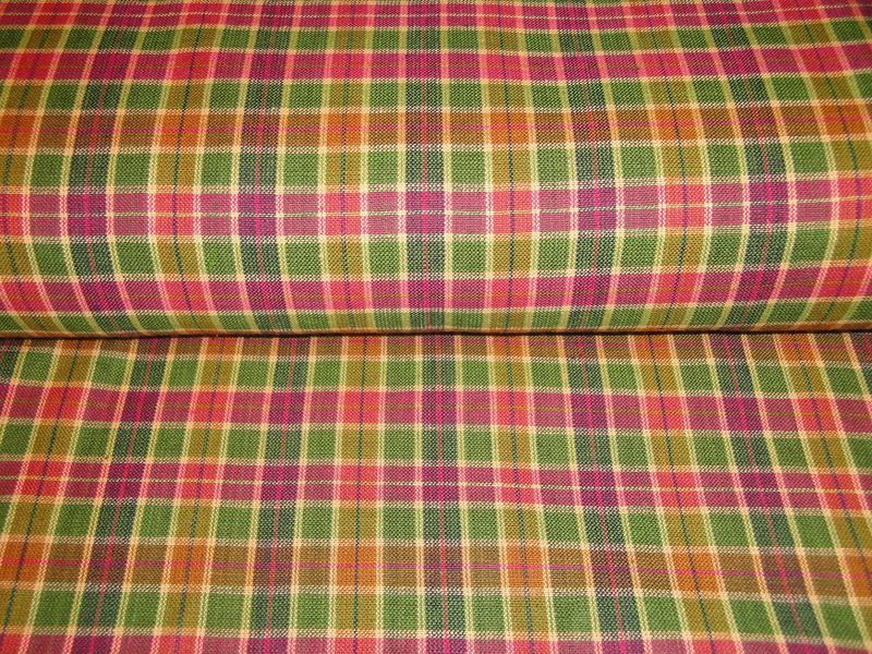 Cotton Homespun Medium Plaid Fabric Sold By The Yard - product image