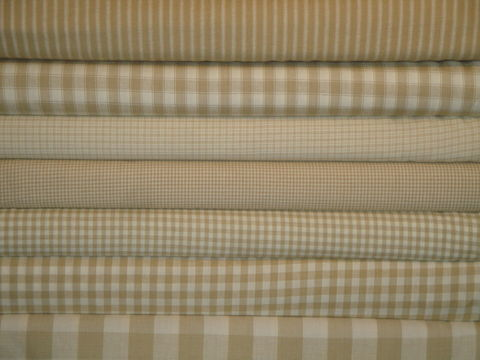 Wheat,And,Cream,Homespun,Fabric,Fat,Quarter,Bundle,Of,7,fat quarter, sewing fabric, dunroven house, homespun fabric