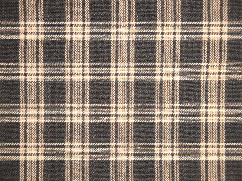Black And Tan Basic Plaid Cotton Homespun Material Sold By The Yard - product image