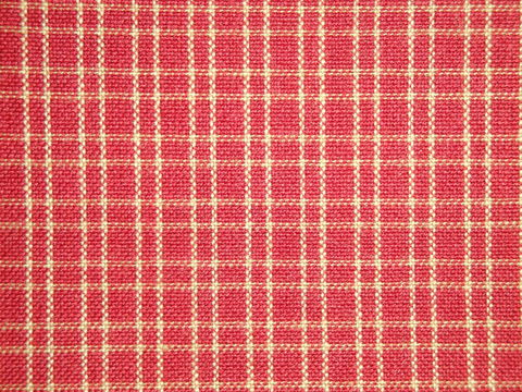 Red,And,Tea,Dye,Reverse,Double,Pane,Plaid,Woven,Cotton,Homespun,Fabric,Supplies,rag_quilting,homespun_fabric,H311, red _small_ window pane _plaid,red_plaid_fabric,homespun_material,by_the_yard_fabric,sewing_fabric,quilt_fabric,cotton_fabric,farmhouse_fabric,rustic_fabric,designer_fabric,cotton homespun material, D