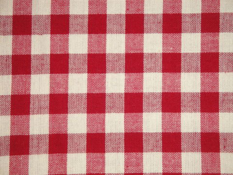 RED /& SAND COLORED CHECKS COTTON FABRIC