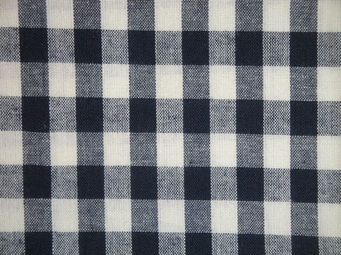 Navy,Blue,And,Cream,Woven,Cotton,Homespun,Large,Check,Fabric,large check fabric, cotton large check fabric,  large check fabric, navy blue large check fabric, home decor check fabric. primitive check fabric, curtain check fabric. bedding check fabric, large check fabric, dunroven house fabric