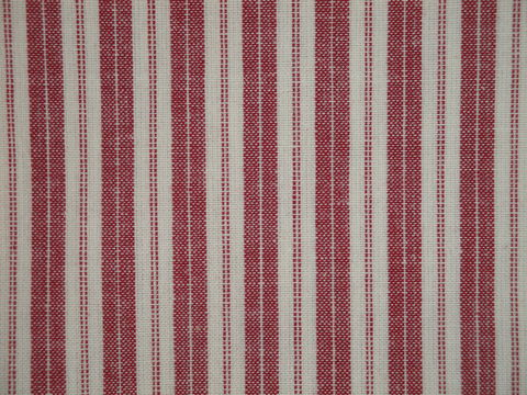 Red,And,Cream,Woven,Cotton,Ticking,Stripe,Homespun,Fabric,red ticking fabric. ticking stripe fabric, Dunroven House Homespun Ticking Fabric H707R, primitive stripe fabric