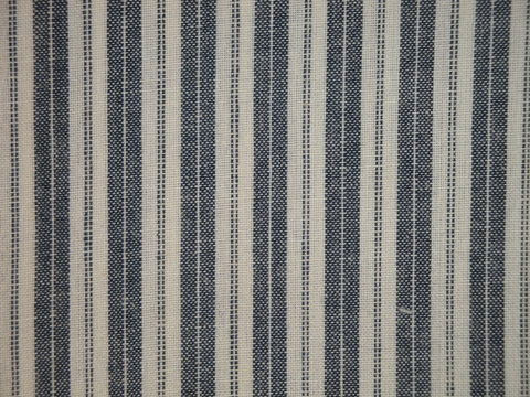 Navy,Blue,And,Cream,Woven,Cotton,Ticking,Stripe,Homespun,Fabric,navy blue ticking fabric. ticking stripe fabric, Dunroven House Homespun Ticking Fabric H707N, primitive stripe fabric