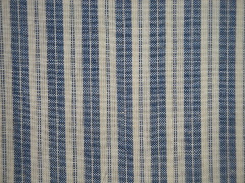 Providence,Blue,And,Cream,Woven,Cotton,Ticking,Stripe,Homespun,Fabric,country blue ticking fabric. ticking stripe fabric, Dunroven House Homespun Ticking Fabric H707PB, primitive stripe fabric