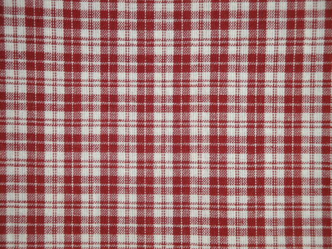 Red,And,Cream,Woven,Cotton,Multi,Plaid,Homespun,Fabric,double plaid fabric, cotton plaid fabric,  plaid fabric, red and cream plaid fabric, home decor check fabric. primitive check fabric, curtain check fabric. bedding check fabric, large check fabric, dunroven house fabric