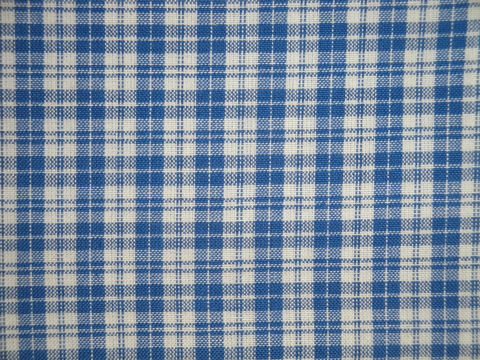 Providence,Blue,And,Cream,Woven,Cotton,Multi,Plaid,Homespun,Fabric,double plaid fabric, cotton plaid fabric,  plaid fabric, blue and cream plaid fabric, home decor check fabric. primitive check fabric, curtain check fabric. bedding check fabric, large check fabric, dunroven house fabric
