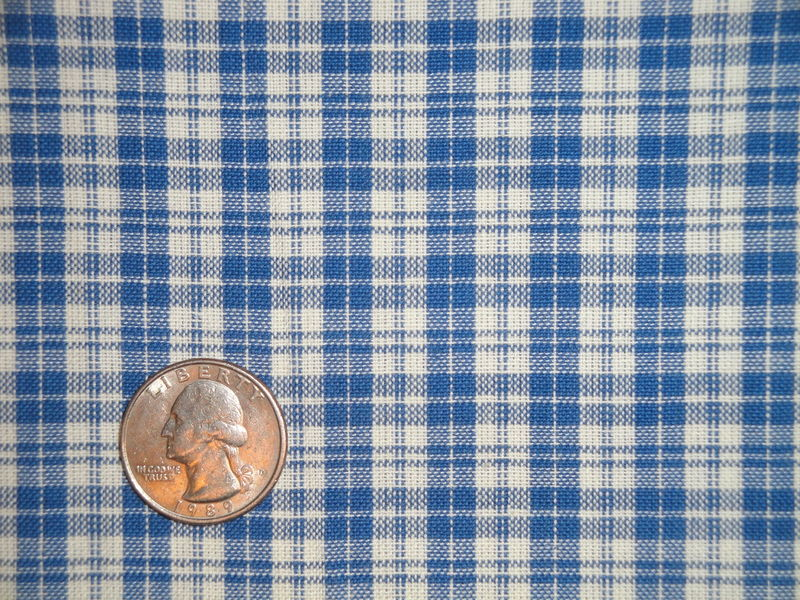 Providence Blue And Cream Woven Cotton Multi Plaid Homespun Fabric  - product image