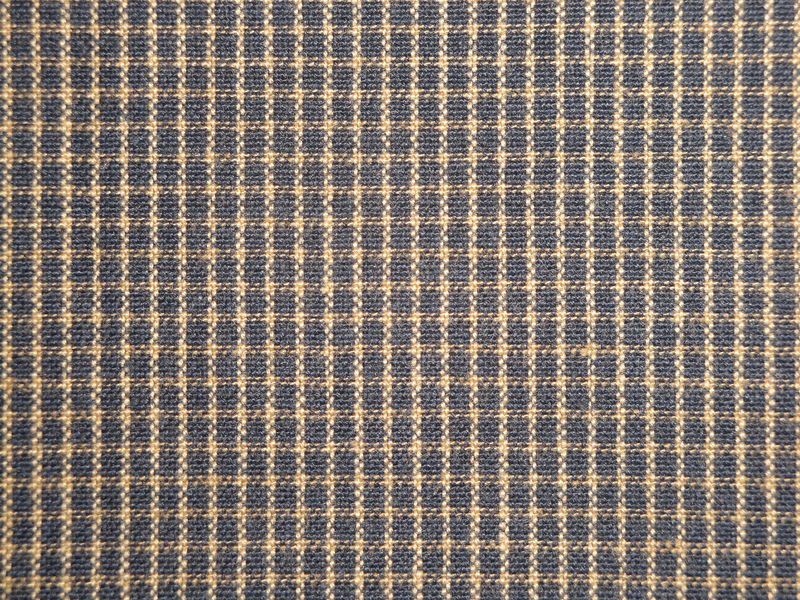 Navy Blue And Tea Dye Mini Window Pane Plaid Cotton Homespun Fabric  - product image