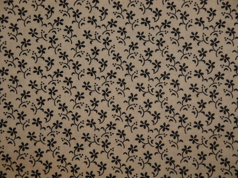 Remember,When,Civil,War,Reproduction,Cream,Cotton,Quilting,Fabric,With,Small,Black,Flower,Design,remember _when_choice_fabrics_black_flower_shirting_sewing_fabric_civil_war_reproduction