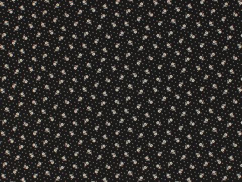 Remember,When,Civil,War,Reproduction,Black,Cotton,Calico,Fabric,With,Small,Flower,Design,remember _when_choice_fabrics_black_flower_shirting_sewing_fabric_civil_war_reproduction