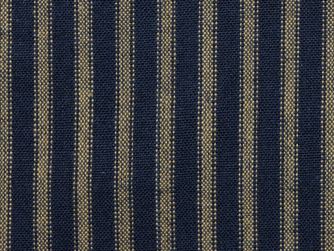 Navy,Blue,And,Tea,Dye,Ticking,Stripe,Homespun,Fabric,navy blue ticking fabric. ticking stripe fabric, Dunroven House Homespun Fabric H27, primitive stripe fabric, blue stripe fabric