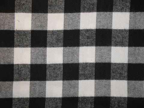 Black,And,White,One,Inch,Cotton,Twill,Flannel,Fabric,flannel_buffalo_check_black_white_twill