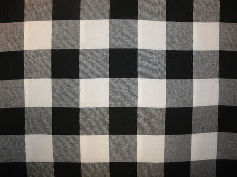Black,And,White,Two,Inch,Cotton,Twill,Flannel,Fabric,flannel_buffalo_check_black_white_twill