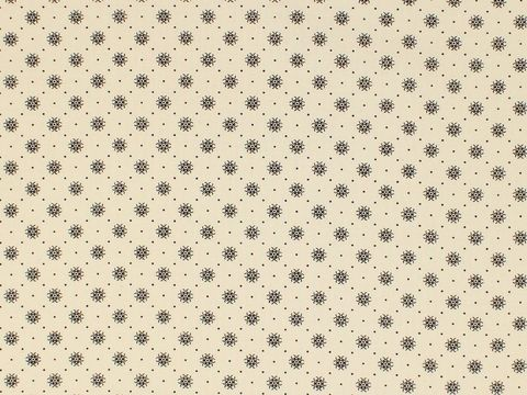 Remember,When,1800's,Civil,War,Reproduction,Cream,Cotton,Calico,Quilting,Shirting,Fabric,With,Black,Design,remember _when_choice_fabrics_black_circle_shirting_sewing_fabric_civil_war_reproduction_calico