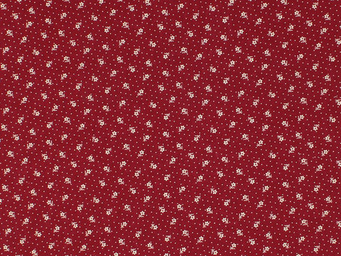 Remember,When,Civil,War,Reproduction,Red,Cotton,Calico,Fabric,With,Small,Flower,And,Dot,Design,remember _when_choice_fabrics_black_flower_shirting_sewing_fabric_civil_war_reproduction