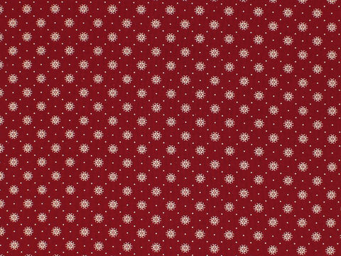 Remember,When,1800's,Civil,War,Reproduction,Red,Cotton,Calico,Quilting,Shirting,Fabric,With,Small,Design,remember _when_choice_fabrics_brown_dots_circle_shirting_sewing_fabric_civil_war_reproduction_calico
