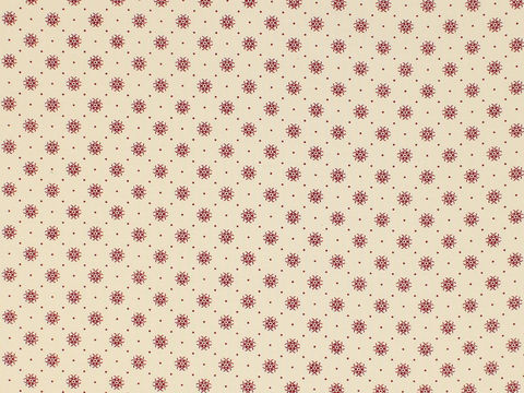 Remember,When,1800's,Civil,War,Reproduction,Cream,Cotton,Calico,Quilting,Shirting,Fabric,With,Small,Red,Design,remember _when_choice_fabrics_red_dots_circle_shirting_sewing_fabric_civil_war_reproduction_calico