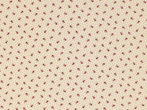 Remember,When,Civil,War,Reproduction,Cream,Cotton,Calico,Fabric,With,Small,Red,Flower,Design,remember _when_choice_fabrics_black_flower_shirting_sewing_fabric_civil_war_reproduction