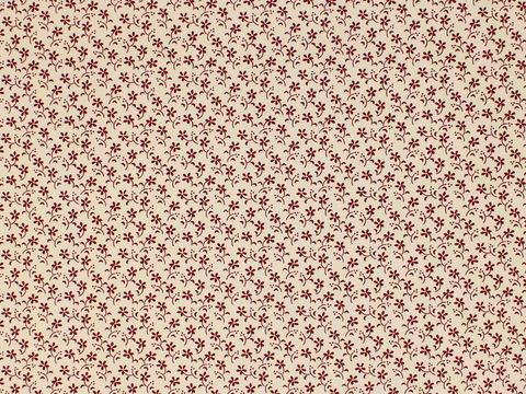Remember,When,Civil,War,Reproduction,Cream,Cotton,Quilting,Fabric,With,Small,Red,Flower,Design,remember _when_choice_fabrics_black_flower_shirting_sewing_fabric_civil_war_reproduction