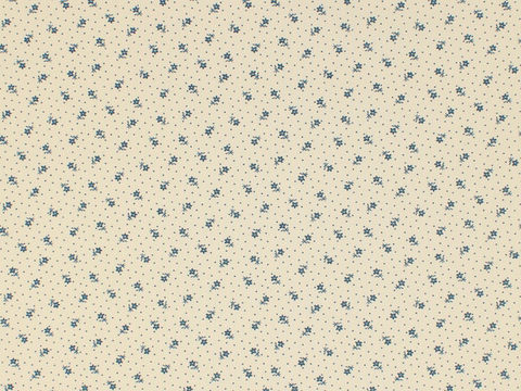 Remember,When,Civil,War,Reproduction,Cream,Cotton,Calico,Fabric,With,Small,Blue,Flower,Design,remember _when_choice_fabrics_blue_flower_shirting_sewing_fabric_civil_war_reproduction