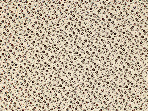 Remember,When,Civil,War,Reproduction,Cream,Cotton,Quilting,Fabric,With,Small,Brown,Flower,Design,remember _when_choice_fabrics_brown_flower_shirting_sewing_fabric_civil_war_reproduction