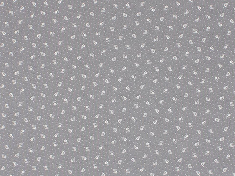Remember,When,Civil,War,Reproduction,Grey,Cotton,Calico,Fabric,With,Small,White,Flower,Design,remember _when_choice_fabrics_gey_flower_shirting_sewing_fabric_civil_war_reproduction_calico_material_printed_cotton