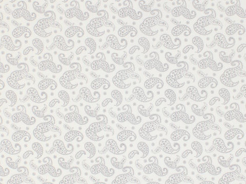 Remember,When,1800's,Civil,War,Reproduction,White,Cotton,Calico,Quilting,Shirting,Fabric,With,Grey,Paisley,Design,remember _when_choice_fabrics_grey_paisley_shirting_sewing_fabric_civil_war_reproduction_calico