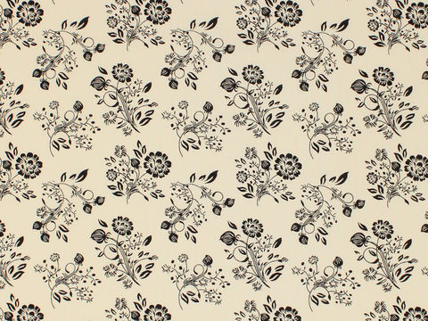 Remember,When,1800's,Civil,War,Reproduction,Cream,With,Black,Flower,Design,Cotton,Quilting,Shirting,Fabric,BD-49730-A01_remember _when_choice_fabrics_black_flowers_shirting_sewing_fabric_civil_war_reproduction_calico