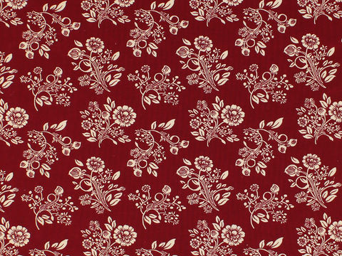 Remember,When,1800's,Civil,War,Reproduction,Red,With,Cream,Flower,Cotton,Quilting,Shirting,Fabric,BD-49731-A02_remember _when_choice_fabrics_red_flowers_shirting_sewing_fabric_civil_war_reproduction_calico