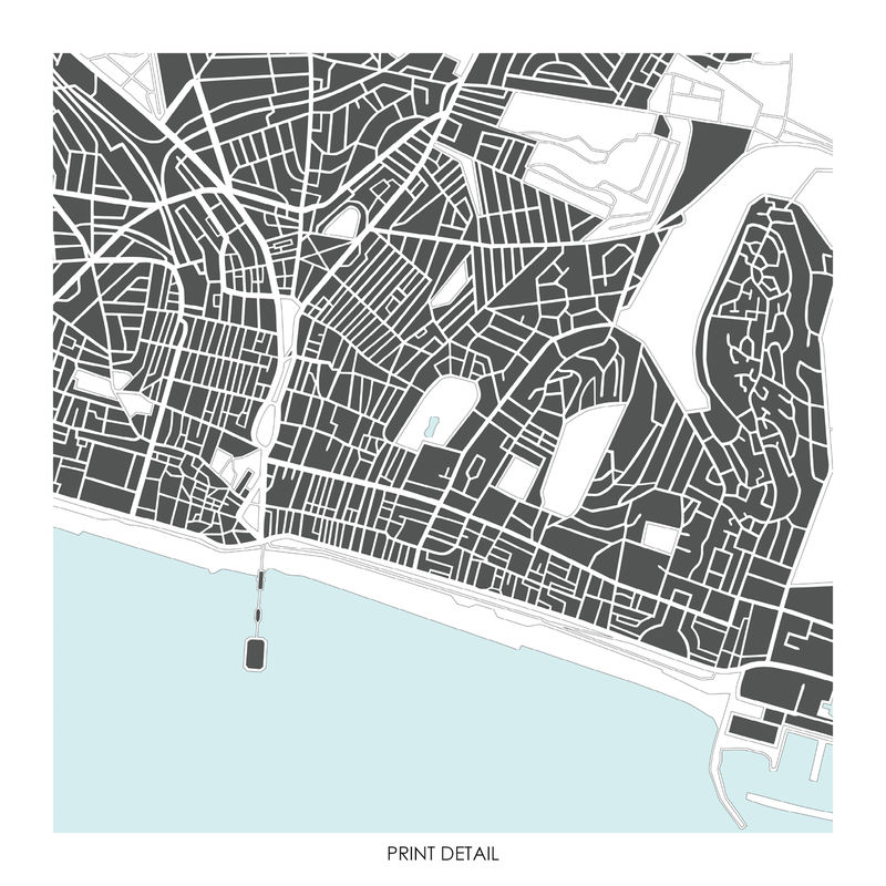 Brighton Map Art Print - Limited Edition Prints - product images  of