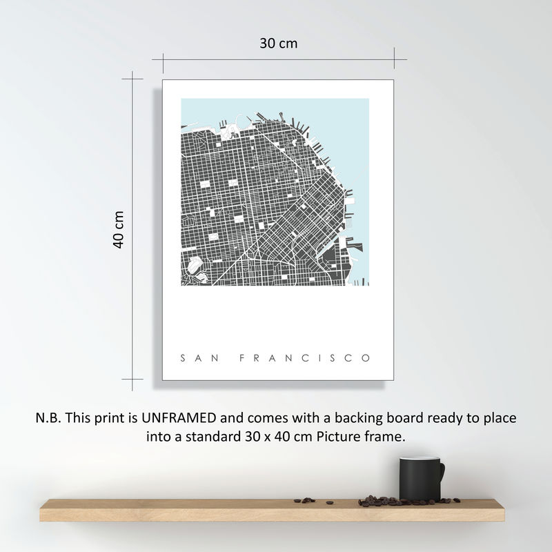 San Francisco Map Art Print - LIMITED EDITION PRINTS - product images  of