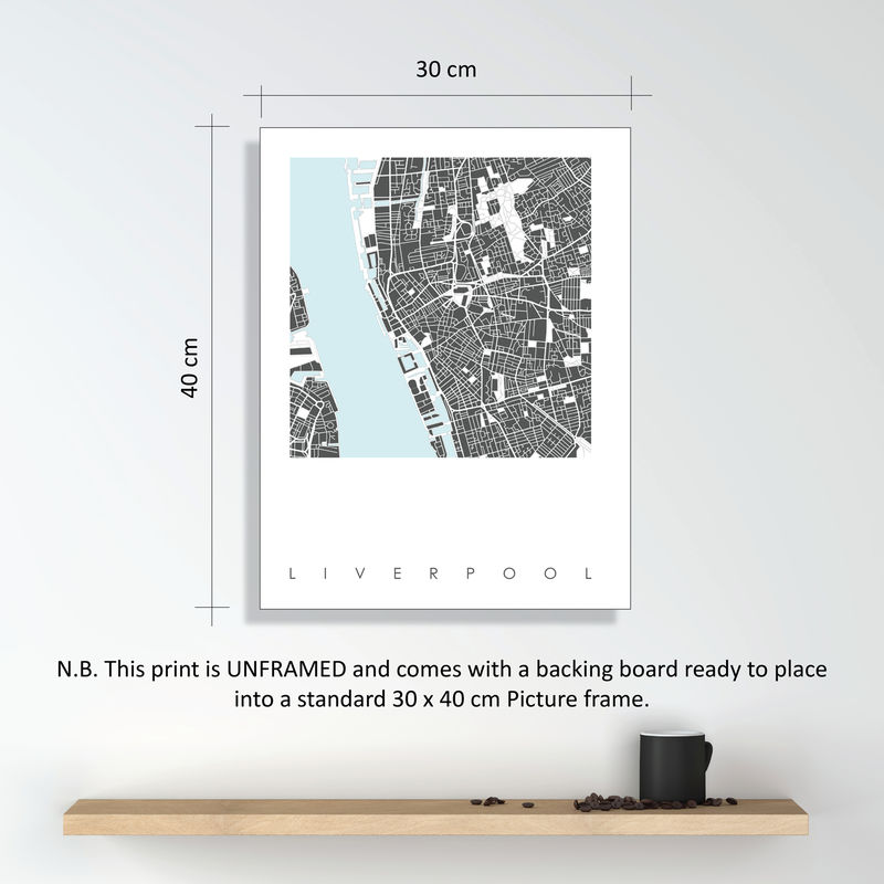 Liverpool Map Art Print - LIMITED EDITION PRINTS - product images  of