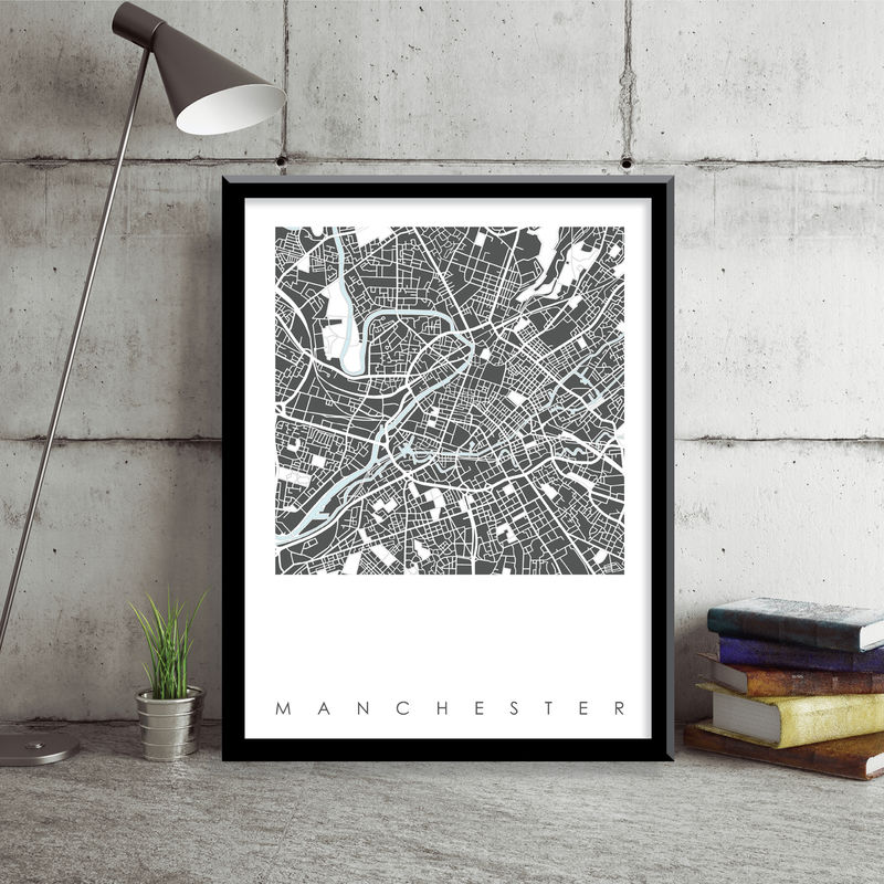 Manchester Map Art Prints - Limited Edition Prints - product images  of