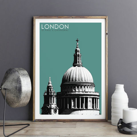 London,Art,Print,-,St,Paul's,Cathedral,Travel,Prints,Gift,London Art Print - St Paul's Cathedral - Travel Prints - London Gift