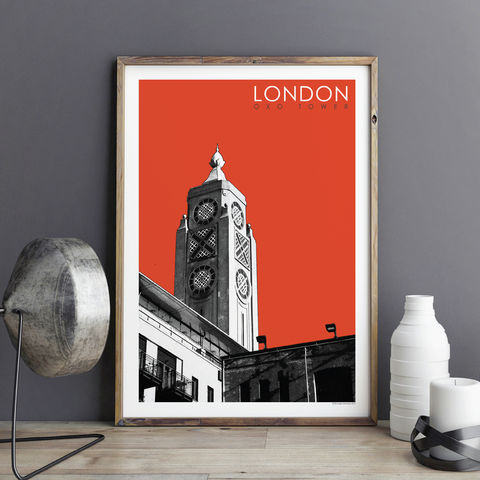 London,Prints,-,Oxo,Tower,london prints, travel posters, city prints, art prints